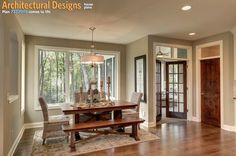 Photo: Informal dining  Plan Link: http://www.architecturaldesigns.com/house-plan-73326HS.asp