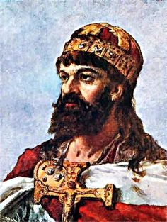 Mieszko I of Poland by Jan Matejko. Famous Polish People, Poland People, Poland Culture, Ottonian, Lithuania Travel, Monuments, Basic Painting, Old Portraits, Art Database