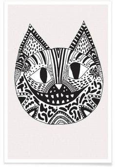 JUNIQUE Cheshire cat als Premium Poster
