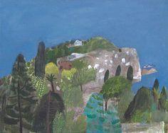 'Sicily' by English artist Elaine Pamphilon. Mixed media on canvas. via pink pagoda studio
