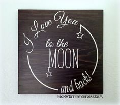 I Love You to the Moon and Back Hand Painted Wood Sign Chalkboard Style Typography Word Art Vintage Style Shabby DIY Wood Signs Art Chalkboard Hand Love Moon Painted Shabby Sign Style Typography Vintage Wood Word Chalkboard Doodles, Chalkboard Art Quotes, Chalkboard Designs, Chalkboard Decor, Diy Wood Signs, Painted Wood Signs, Hand Painted, Back Painting, Diy Painting