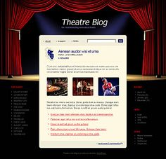 Check out this Theater PSD Template ( - find out all the technical characteristics and requirements before buying it.