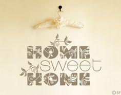 Home Sweet Home Wall Tattoo
