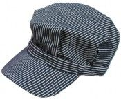 Train Engineer hats Boys Striped Engineer Hat (Blue)