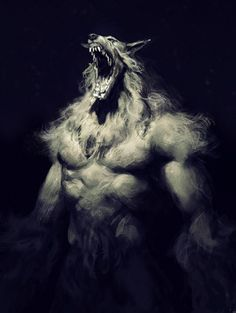 cabin in the woods werewolf wip Fantasy Creatures, Mythical Creatures, Dark Fantasy, Fantasy Art, Werewolf Art, Vampires And Werewolves, World Of Darkness, Classic Monsters, Horror Art