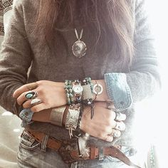 ecodesignproject Hippie Mode, Hippie Style, Bohemian Style, Boho Chic, My Style, Boheme Boutique, Boho Fashion, Fashion Jewelry, Country Wear