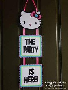 Hello Kitty Party Door Sign