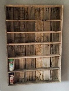 This listing is for a custom made, rustic, spice rack, which will for sure add charm to any kitchen! Such a unique and conversation piece to add