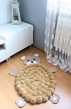 Niños habitación alfombra tapete de Pom Pom por PomPomMyWorld