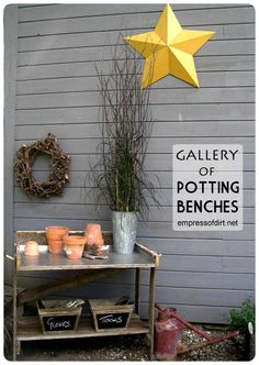 Gallery of Potting Benches - come get ideas for your garden | empressofdirt.net/pottingbenches
