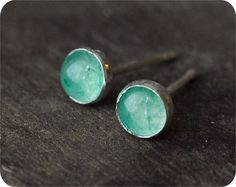 Sterling Silver Aventurine Posts I !♥ these!!
