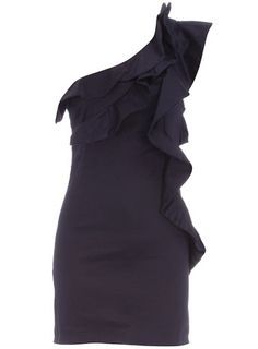 Navy ruffle one shoulder dress - Party Dresses - Dresses - Dorothy Perkins Classic Outfits, Cute Outfits, Fancy Black Dress, Petite Outfits, Womens Fashion Online, Dresses Dresses, Formal Dresses, Dress Party, Party Dresses