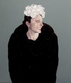 """""""Forte depressione e grande sconforto"""" 2011 olio e smalto su tela (70x80) Francesco Merletti (Brescia 1966)"""