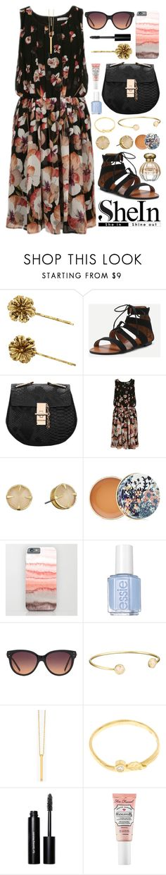 """""""Petal Without a Cause Outfit"""" by ohsosartorial on Polyvore featuring Jennifer Behr, Vince Camuto, Paul & Joe, Essie, MANGO, Gorjana, Alex Monroe, Bobbi Brown Cosmetics, Too Faced Cosmetics and Tocca"""