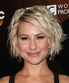 Chelsea Kane Hairstyle - Medium Wavy Casual - Light Blonde