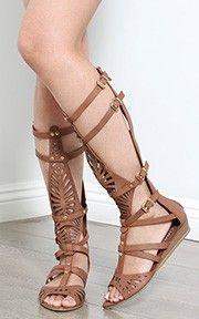 Liliana Andika-1 Cut Out Gladiator Sandals