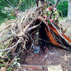 natural bush cubby play house (IMAGE: The Art Box)