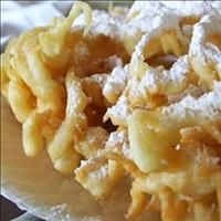 State Fair Funnel Cake: large cup Sugar 2 cups milk 3 cups Flour teaspoon Salt 2 teaspoon Baking Powder Vegetable oil Instructions: Beat eggs and sugar together and then add the milk slowly--. Just Desserts, Delicious Desserts, Dessert Recipes, Yummy Food, Deep Fried Desserts, Churros, Funnel Cake Ingredients, State Fair Funnel Cake Recipe, Funnel Cake Recipe Easy