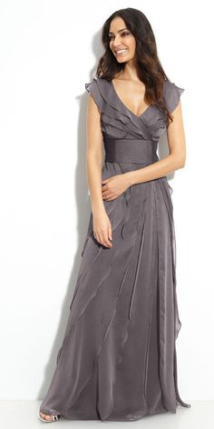 Some of these are good inspiration for Mother-of-the-bride/groom dresses - a shorter version in ivory perhaps?