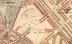 Old map of Maida Vale (Elgin Avenue running through centre) Maida Vale, London Map, Mary Magdalene, London Photos, Local History, Camden, Westminster, Historical Photos, Old Photos