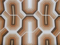 mod geometric...full roll 1970s vintage wallpaper