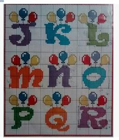 Alphabet for children cross stitch patterns Plastic Canvas Letters, Plastic Canvas Crafts, Cross Stitch Letters, Cross Stitch Baby, Bead Loom Patterns, Stitch Patterns, Beading Patterns, Cross Stitching, Cross Stitch Embroidery