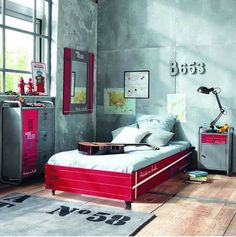 industrial boys room decorating ideas