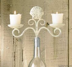 How cool is this? !!!  Sea Breeze Shell Wine Bottle Topper