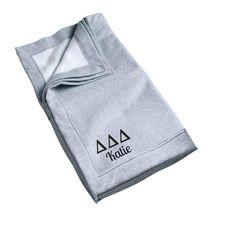 Tri Delta Blanket... now available! Shop http://manddsororitygifts.com/products/delta-delta-delta-blanket-personalized?utm_campaign=social_autopilot&utm_source=pin&utm_medium=pin