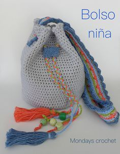 Bolso para niña de crochet / Crochet girl bag