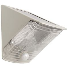 Solar-Powered Motion-Activated Wedge Light (Gray) - MAXSA INNOVATIONS - 40235