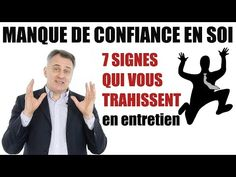 Coach Entretien d'embauche : langage corporel et non verbal, les gestes qui trahissent - YouTube Coaching, Signs, Personal Development, Communication, Cv, How To Plan, Commercial, Action, Body Language