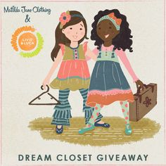 UPDATE: Our contest is now closed. Congratulations to Sherlock B. and Brittany B! We sent a little message your way on Pinterest so be on the lookout as we have some sweet pieces ready for their new homes. Thank you all for joining us and our pals at Matilda Jane Clothing for a little Pinterest fun!