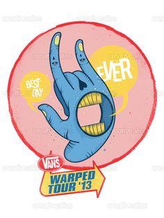 Vans #WarpedTour Poster by Jarrad Burley on CreativeAllies.com