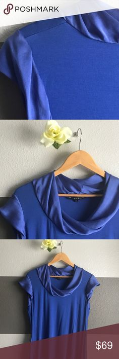 Antonio Melani Blouse Stunning and stylish royal blue blouse by Antonio Melani. The Neck line and sleeves have a 100% silk lining for a unique design. 95% Rayon 5% Spandex. Small spots of discoloration (see pictures) ANTONIO MELANI Tops Blouses