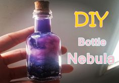 How To Make Cute DIY Bottled Nebula | Diy Craft Projects