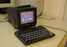 Sinclair ZX Spectrum 8 bit computer from 1982 with 48 KBytes RAM and a MHz Proccessor. Computer Love, Home Computer, Computer Science, 8 Bits, Old Technology, Retro Arcade, Old Tv, Tech Gadgets, Computer Accessories