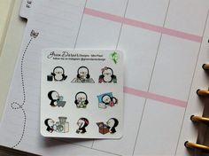 Mini Pearl Sampler - functional planner stickers - for the Happy Planner, Erin Condren, Recollections - by Green Darner Designs  Pearls mini sampler. Cute functional planner stickers.  You will receive one 3 x 3.25 mini sheet containing 9 permanent stickers measuring approximately .6h on white matte finish sticker paper, kiss cut to simply peel & stick. **Please note that colors may appear differently on different monitors.  Orders are shipped in a stay flat cardboard mailer and do not in...