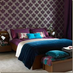 purple & teal -- I LOVE this color combo