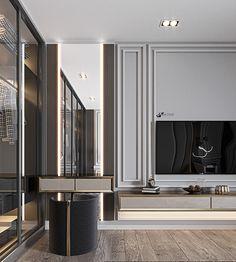 M . BEDROOM on Behance Modern Luxury Bedroom, Master Bedroom Interior, Modern Master Bedroom, Luxurious Bedrooms, Decor Home Living Room, Living Room Designs, Home Room Design, House Design, Neoclassical Interior