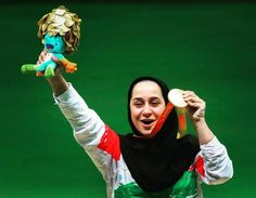 """Javanmardidodmani's delight at shooting gold for Iran 09.09.2016 """"I have done all that I can do to tell my people that disability has no limitations,"""" says star after victory at Deodoro - Sareh Javanmardidodmani Rio 2016"""