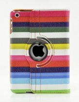 LiViTech offer LiViTech(TM) Multi-Color Strip Design 360 Degree Rotating Cover Case for Apple iPad Air or iPad Mini with Retina (iPad Air Rainbow). This awesome product currently limited units, you can buy it now for  $14.99, You save - New