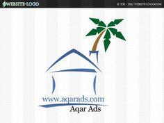 Website Logo design for Aqar Ads Website Logo, Unique Logo, Branding Your Business, Brand You, Logo Design, Ads, Logos, Creative, Logo
