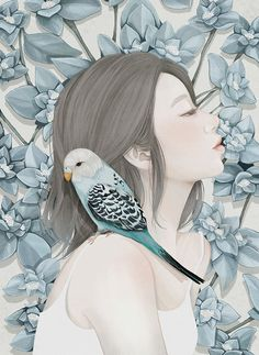 Kai Fine Art is an art website, shows painting and illustration works all over the world. Art And Illustration, Korean Illustration, Girl Illustrations, Portrait Illustration, Art Floral, Artwork Fantasy, Fantasy Art, Wassily Kandinsky, Art Design