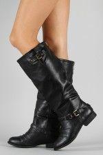 Knee high boots, black