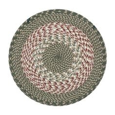 Braided Cotton Blend Round Chair Pad with 2 Tie Ribbons, #45-009