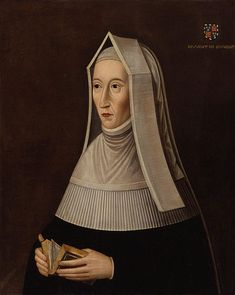 Margaret Beaufort, a descendant and passionately loyal supporter of the House of Lancaster, was married, while still a child of twelve, to the king's half-brother Edmund Tudor, as a way of endowing him with her enormous fortune and lands.  Her husband died of plague leaving her a thirteen y