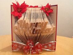 Book Folding Pattern for Merry Christmas +FREE TUTORIAL