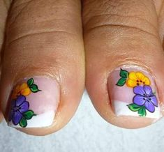 Cute Pedicures, Pedicure Nails, Mani Pedi, Cute Toe Nails, Toe Nail Art, Love Nails, Pretty Toes, Cute Toes, New Nail Art Design