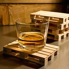 5 Gift Ideas For Him Under $20 - wood pallet drink coasters